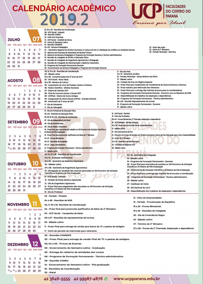 Calendario.Calendario Academico Ucp Parana